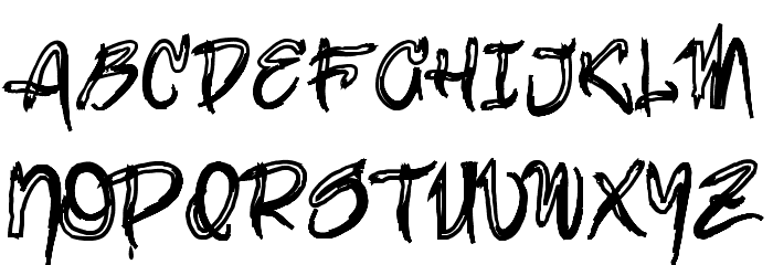brush-Bold Шрифта ВЕРХНИЙ