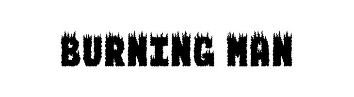 BURNING MAN  Скачать бесплатные шрифты