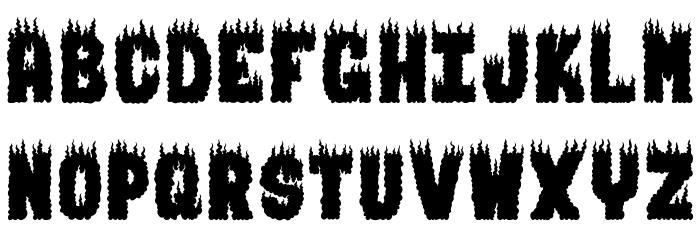 BURNING MAN Font UPPERCASE