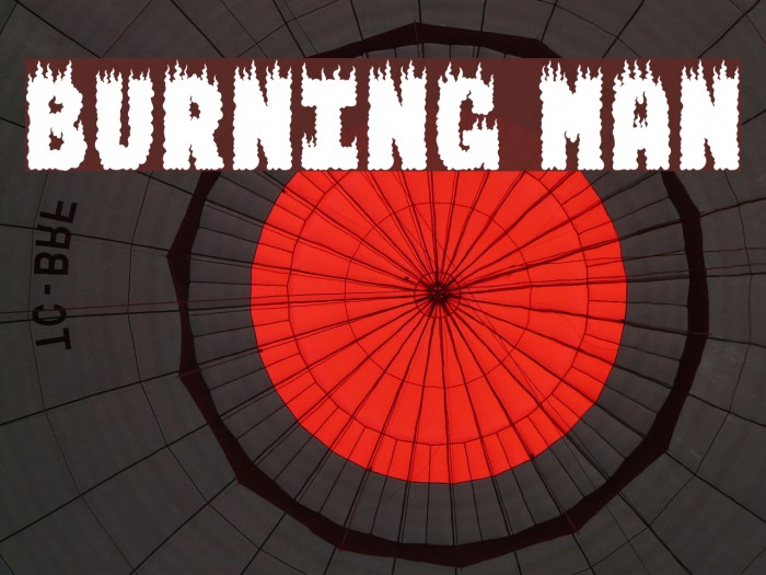 BURNING MAN Font examples