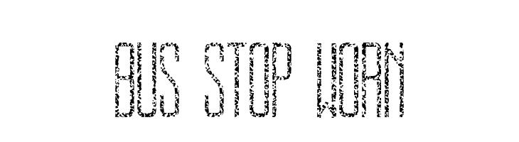 BUS STOP WORN  baixar fontes gratis