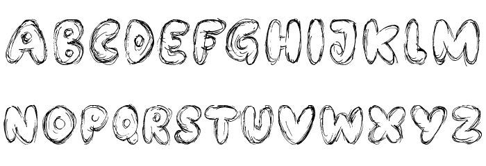 Bubble Bash Font LOWERCASE