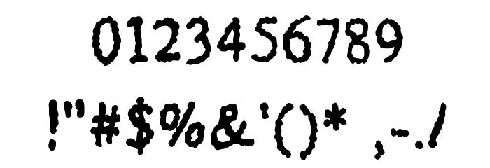 BubbleDub Medium Font OTHER CHARS