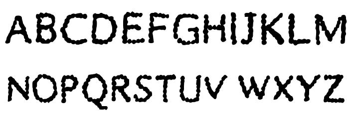 BubbleDub Medium Font UPPERCASE