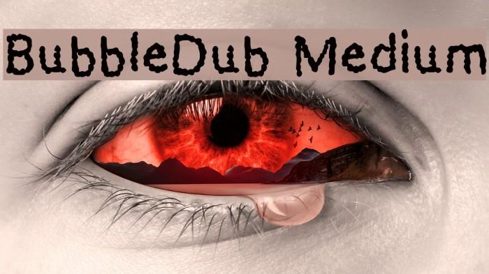 BubbleDub Medium Font examples