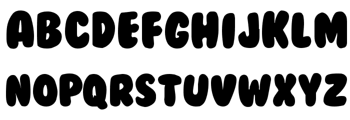 BubbleGum Font LOWERCASE