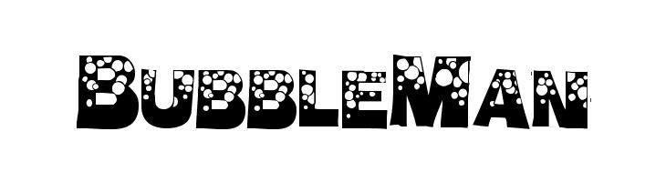 BubbleMan  Скачать бесплатные шрифты