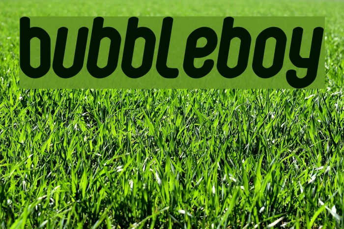 Bubbleboy फ़ॉन्ट examples
