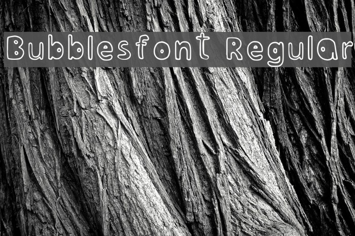 Bubblesfont Regular Font examples