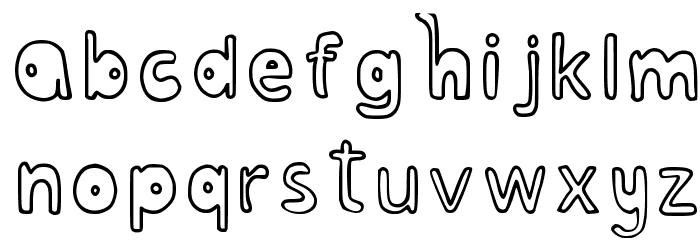 Bubblesfont Regular Font LOWERCASE