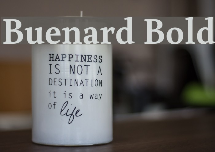 Buenard Bold Font examples