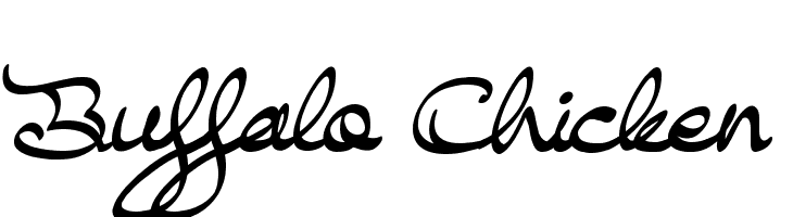 Buffalo Chicken  Free Fonts Download