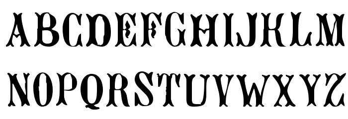 Bujardet Freres [Unregistered] Font UPPERCASE
