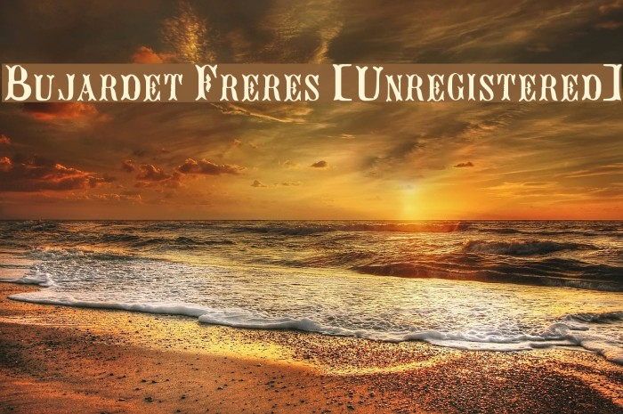 Bujardet Freres [Unregistered] Font examples