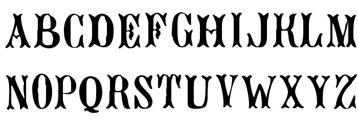 Bujardet Freres [Unregistered] Font LOWERCASE