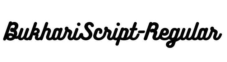 BukhariScript-Regular  フリーフォントのダウンロード