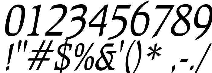 Bulgarian Italic Font OTHER CHARS