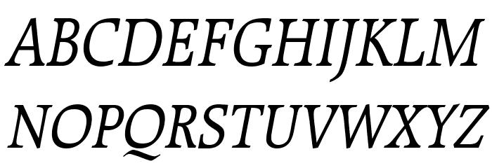 Bulgarian Italic Font UPPERCASE