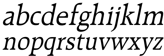 Bulgarian Italic Font LOWERCASE