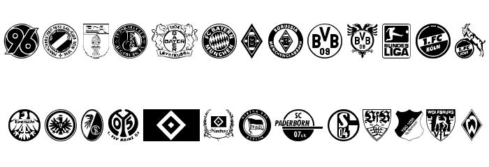 Bundesliga Font Litere mari