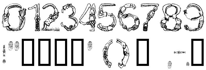 Bunny Rabbits Шрифта ДРУГИЕ символов