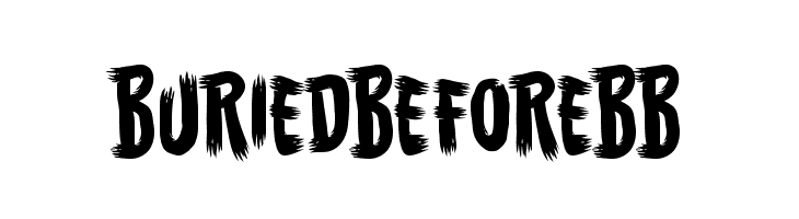BuriedBeforeBB  フリーフォントのダウンロード