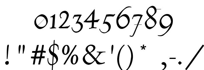 Burklein-Oblique Font OTHER CHARS