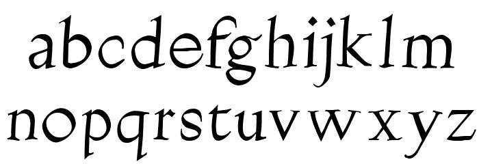 Burklein-Oblique Font LOWERCASE