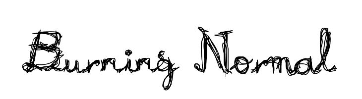 Burning Normal  Скачать бесплатные шрифты