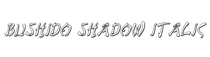 Bushido Shadow Italic  नि: शुल्क फ़ॉन्ट्स डाउनलोड