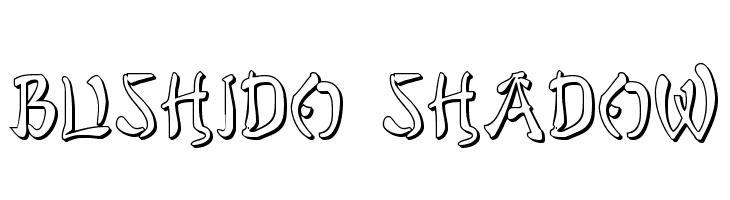 Bushido Shadow  Скачать бесплатные шрифты