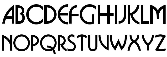 Busorama Font UPPERCASE