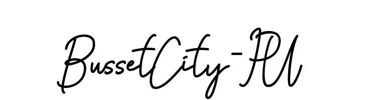 Busset City - PU  Скачать бесплатные шрифты