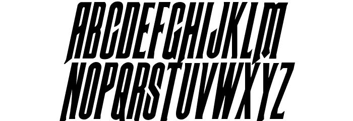 Butch & Sundance Condensed Italic Font Litere mari