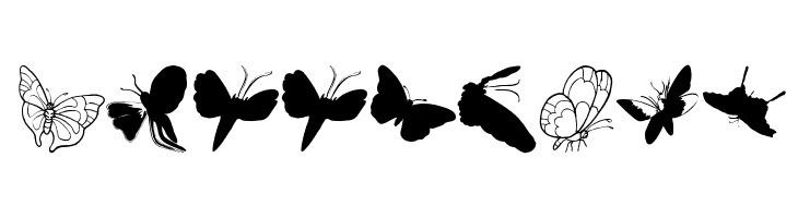 ButterFly  les polices de caractères gratuit télécharger