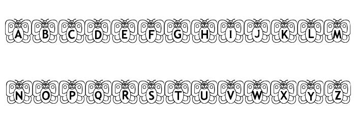Butterfly In My Garden Font UPPERCASE