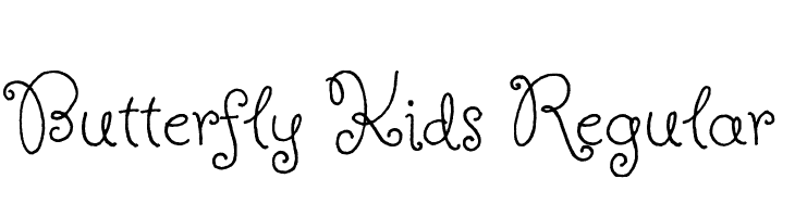 Butterfly Kids Regular  Free Fonts Download