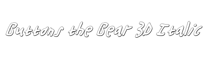 Buttons the Bear 3D Italic  Descarca Fonturi Gratis
