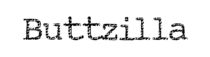 Buttzilla  Скачать бесплатные шрифты