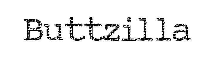 Buttzilla  font caratteri gratis
