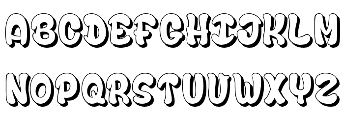 Bubble Soap Font LOWERCASE