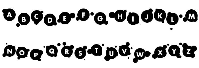 bubble Font UPPERCASE