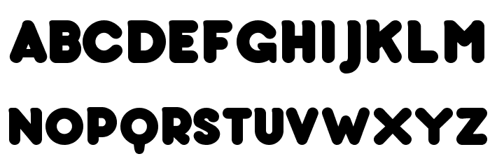 bubbleboddy Font Litere mari