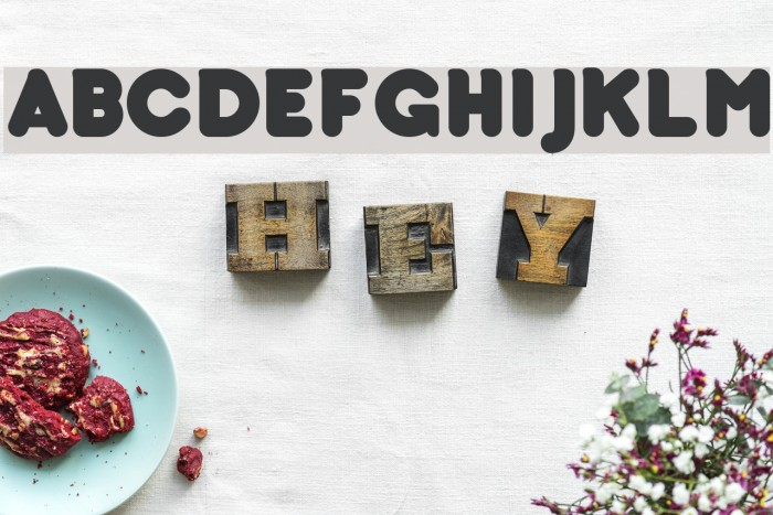 bubbleboddy Font examples