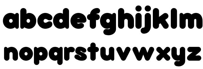 bubbleboddy Font Litere mici