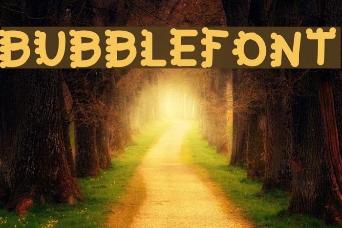 bubblefont Fonte examples