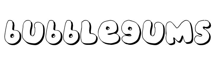 bubblegums  Скачать бесплатные шрифты