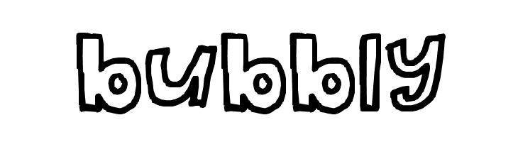 bubbly  font caratteri gratis