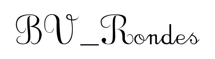 BV_Rondes  Free Fonts Download