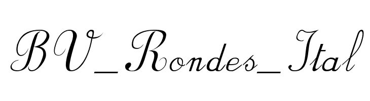 BV_Rondes_Ital  Free Fonts Download